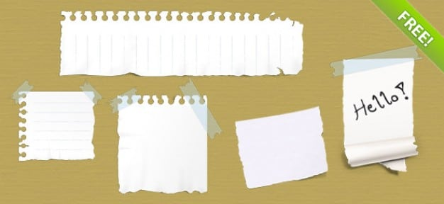 Ripped Paper Notes