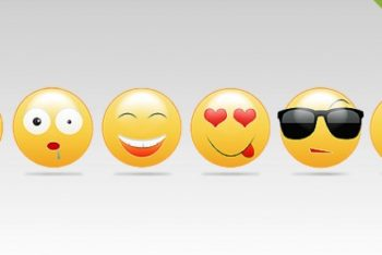 Free Diverse Colored Smileys Mockup in PSD