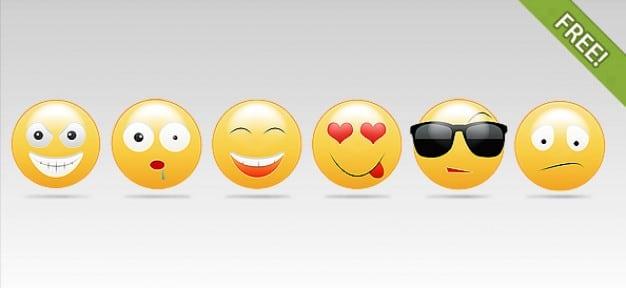 Diverse Colored Smileys