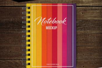 Colorful & Customizable Notebook PSD Mockup