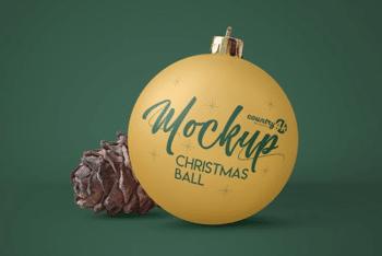 Christmas Ball PSD Mockup for Wonderful Decorations