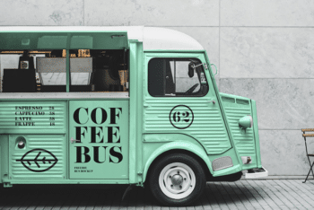 Food Truck PSD Mockup for Free