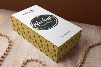 Beautiful Gift Box PSD Mockup for Impressive Presentation