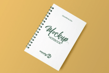 Free Spiral Notebook PSD Mockup – Available in High Resolution