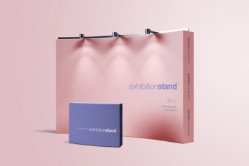 Exhibition Stand Mockup – Available in PSD Format With Layer Effects