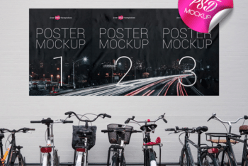 Street Poster PSD Mockup – Available in High Resolution