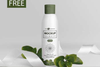 Cosmetic Product Bottle PSD Mockup for Free