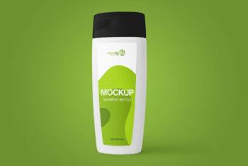 Useful Shampoo Bottle PSD Mockup for Free