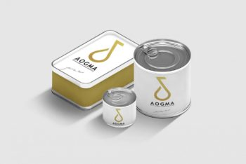 Steel-made Packaging Containers PSD Mockup for Free