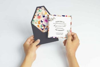 Invitation Card PSD Mockup – Pretty Look Blends With Useful Features