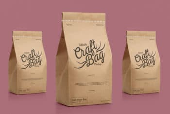 Stitched Paper Bag Mockup – Available in Layered PSD Format