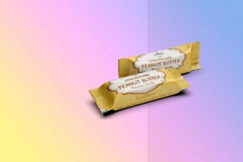 Peanut Butter Chocolate Packaging PSD Mockup for Free