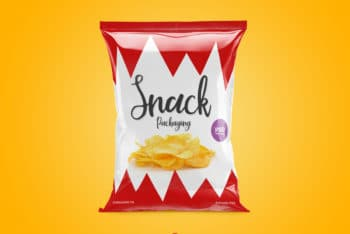 Snacks Packet PSD Mockup for Free