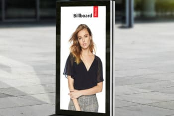Vertical Shaped Poster Billboard PSD Mockup for Effective Outdoor Advertising