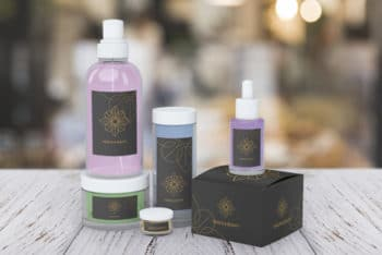 Free Beauty Product Containers Mockup in PSD