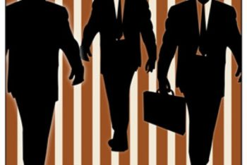 Free Businessman Silhouette Designs Mockup in PSD