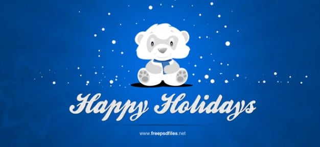 Cute Happy Holiday Banner