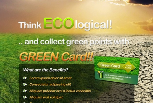 Eco Themed Flyer Design
