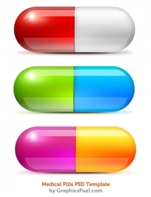 Colorful Medical Pills