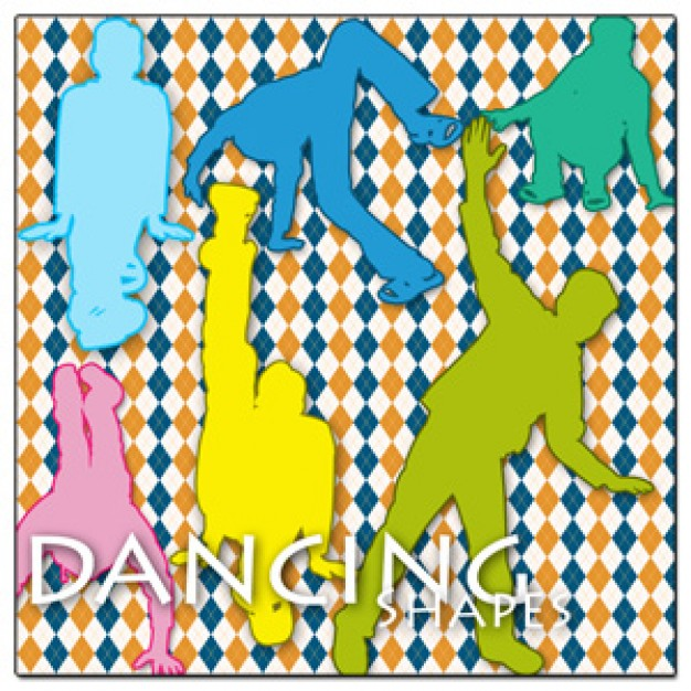 Colorful Dancing Silhouettes