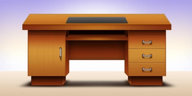 Office Table Illustration