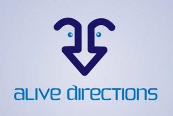 Free Arrow Vector Logo Design Mockup in PSD