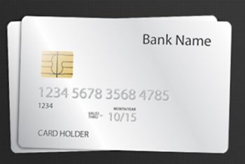 Free Blank White Credit Card Mockup in PSD