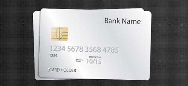 Free Blank White Credit Card Mockup In Psd Designhooks
