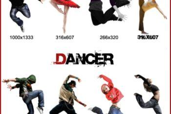 Free Dancer Models Pack Mockup in PSD