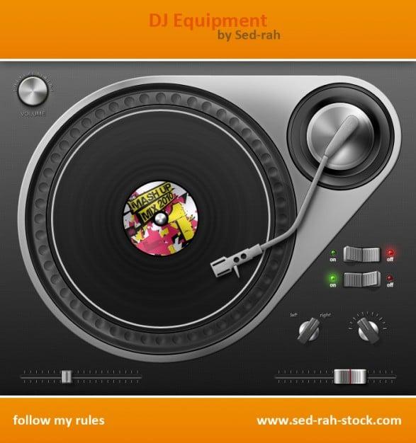 DJ Equipment Illustration