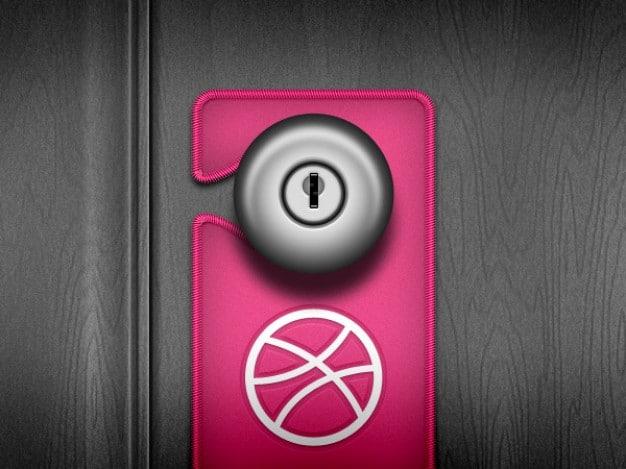 Pink Door Handle Hanger