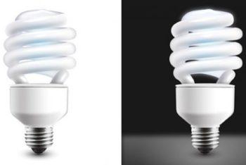 Free Modern Light Bulb Design Mockup in PSD