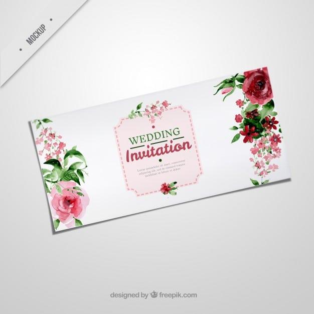 Elegant Rosy Wedding Invitation