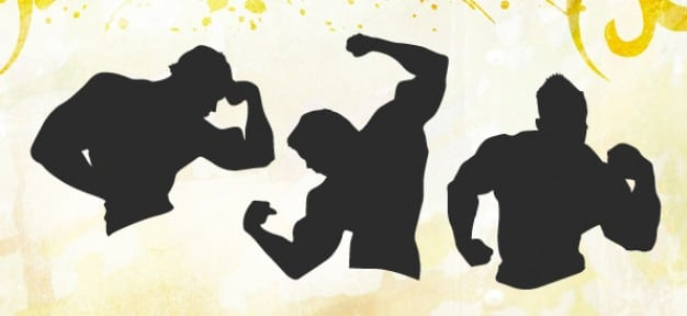 Male Muscle Fitness Silhouette