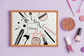 Free Makeup Art Concept Plus Frame Mockup