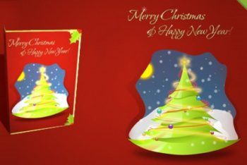 Free Layered Christmas Card Mockup in PSD