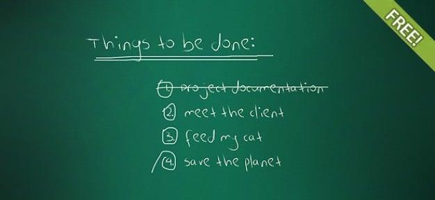 Chalkboard Task List