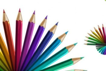 Free Various Colored Pencils Mockup in PSD