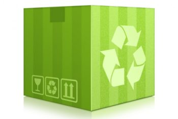 Free Green Box Plus Recycle Logo Mockup in PSD