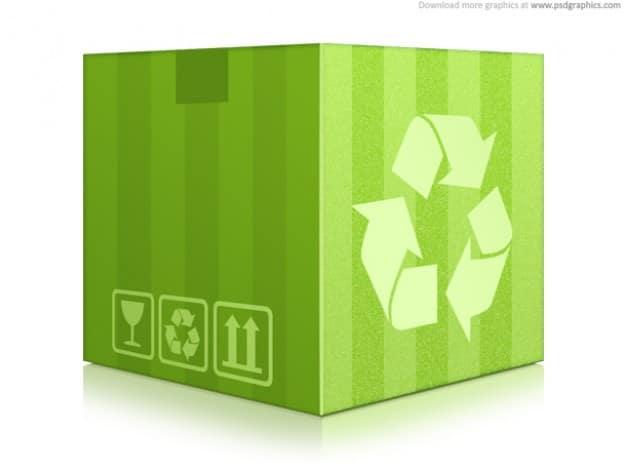 Green Box Plus Recycle Logo