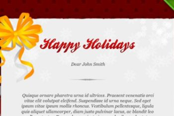 Free Holiday Greeting Card Mockup in PSD