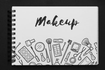 Free Makeup Concept Drawing Mockup in PSD