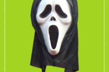 Free Scream Horror Mask Mockup in PSD
