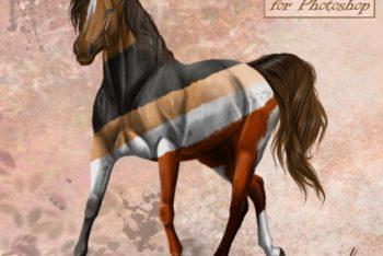 Free Modular Horse Art Creator Mockup in PSD