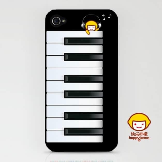 Piano Themed Smartphone Shell
