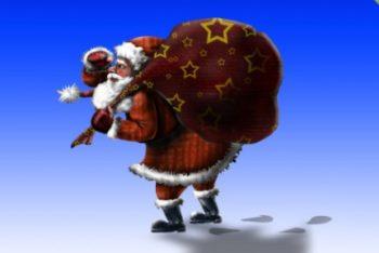 Free Layered Santa Claus Mockup in PSD