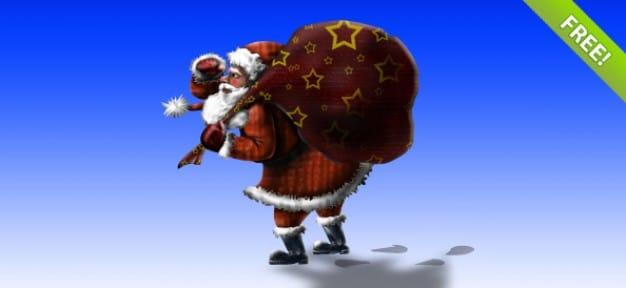 Layered Santa Claus