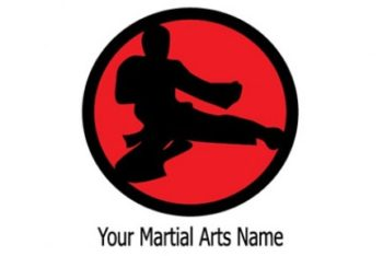 Free Martial Arts Logo Design Mockup in PSD