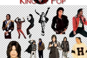 Free Michael Jackson Poses Mockup in PSD
