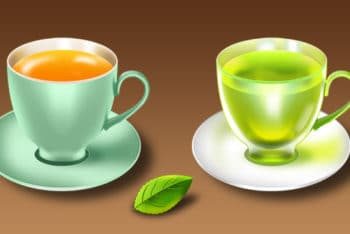 Mint Tea Cup PSD Mockup for Free
